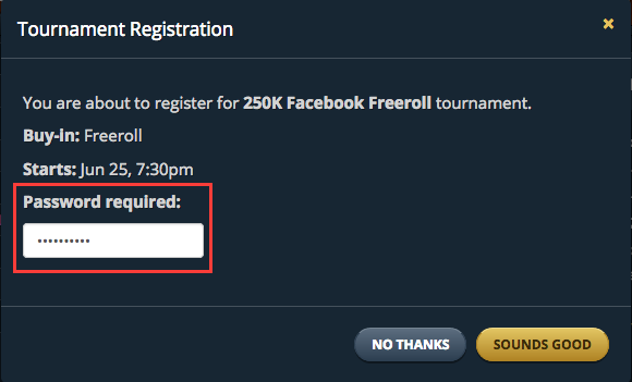 Freeroll poker passwords facebook how to play three hand poker